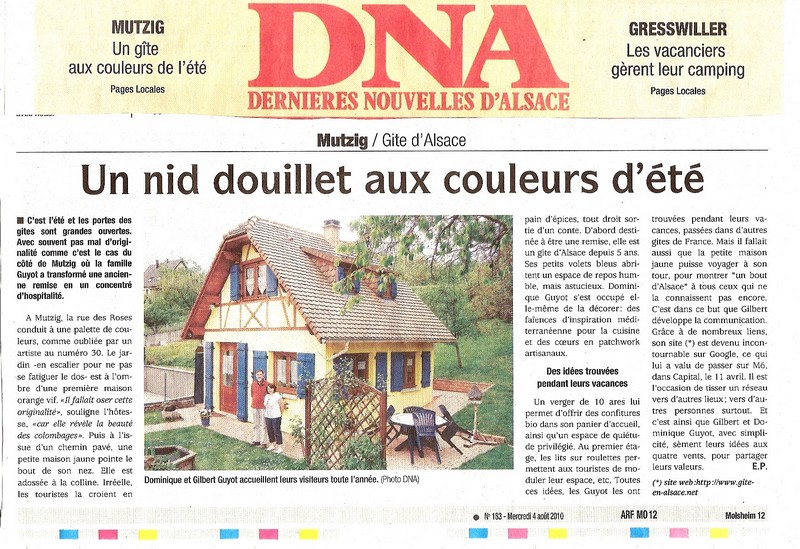 Article DNA du mercedi 4 aout 2010