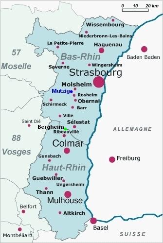 Carte Alsace Bergheim.Bergheim